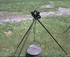 Chuckwagon Campfire Irons set up as a tripod