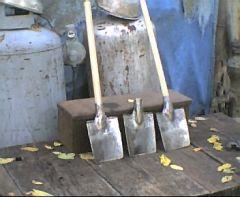 3 small 18th century shovels