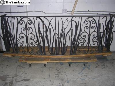 forged curved railing