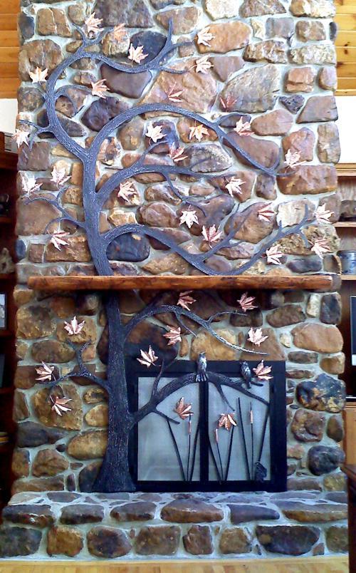 Fireplace Tree Sculpture