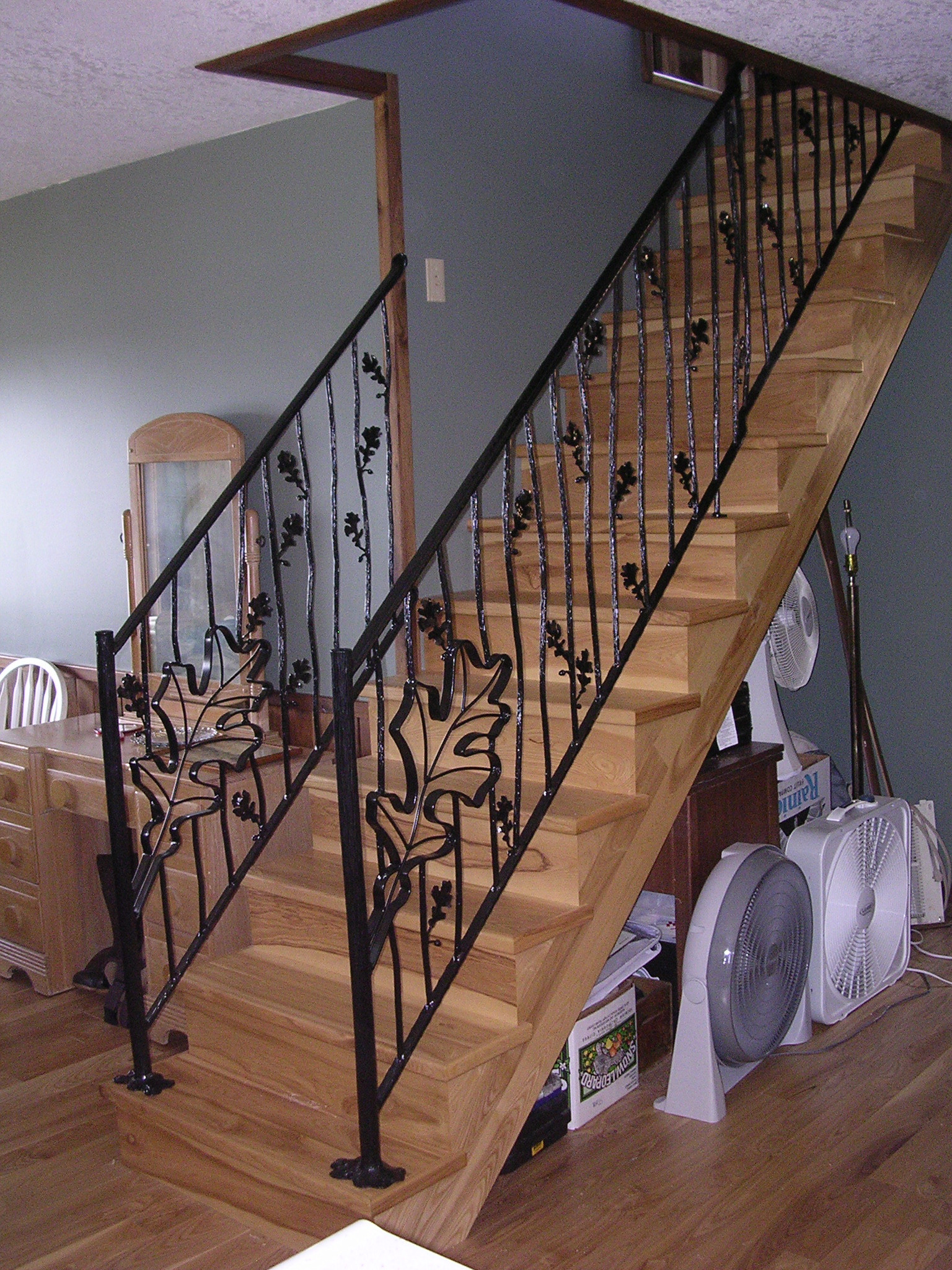 oak leaf railing