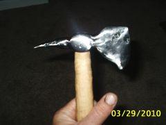 Ball peen hammer hawk