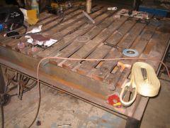 home made acorn/platten table 5'x5'