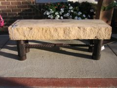 rebar and mansfield stone bench... love me some rebar