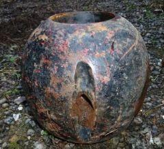 New round anvil swedge headache ball