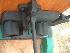 Blacksmith tools and equipment.