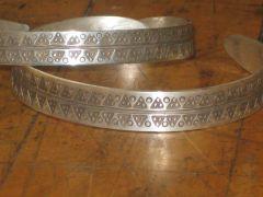 -pair of silver bracelets