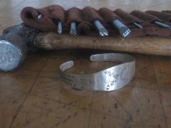 -silver bracelet with stamps