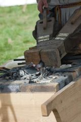 -charcoal forge