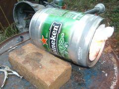 Mini beer keg forge