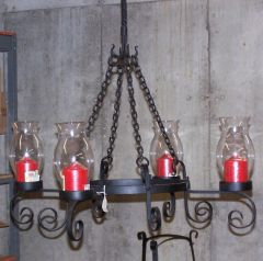 four candle chandelier