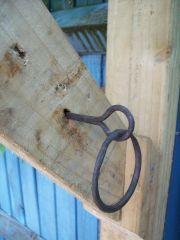 Forge Welded ring and eye.