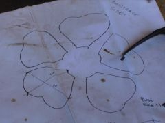 sketch of flowers for the keoran war memorial