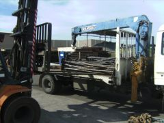 unloading flowers at galvo plant