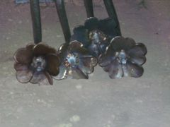 flowers all welded on
