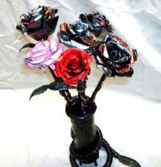 Bouquet of Metal Flowers