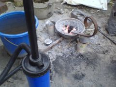 My not-in-the-ground ground forge
