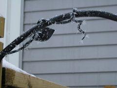 Feb 06 frost / ice on hanger