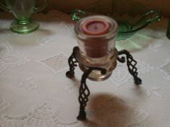 insulator candle holder