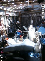 This is a pic of my shop after Katrina