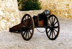 cannon, with wrought iron