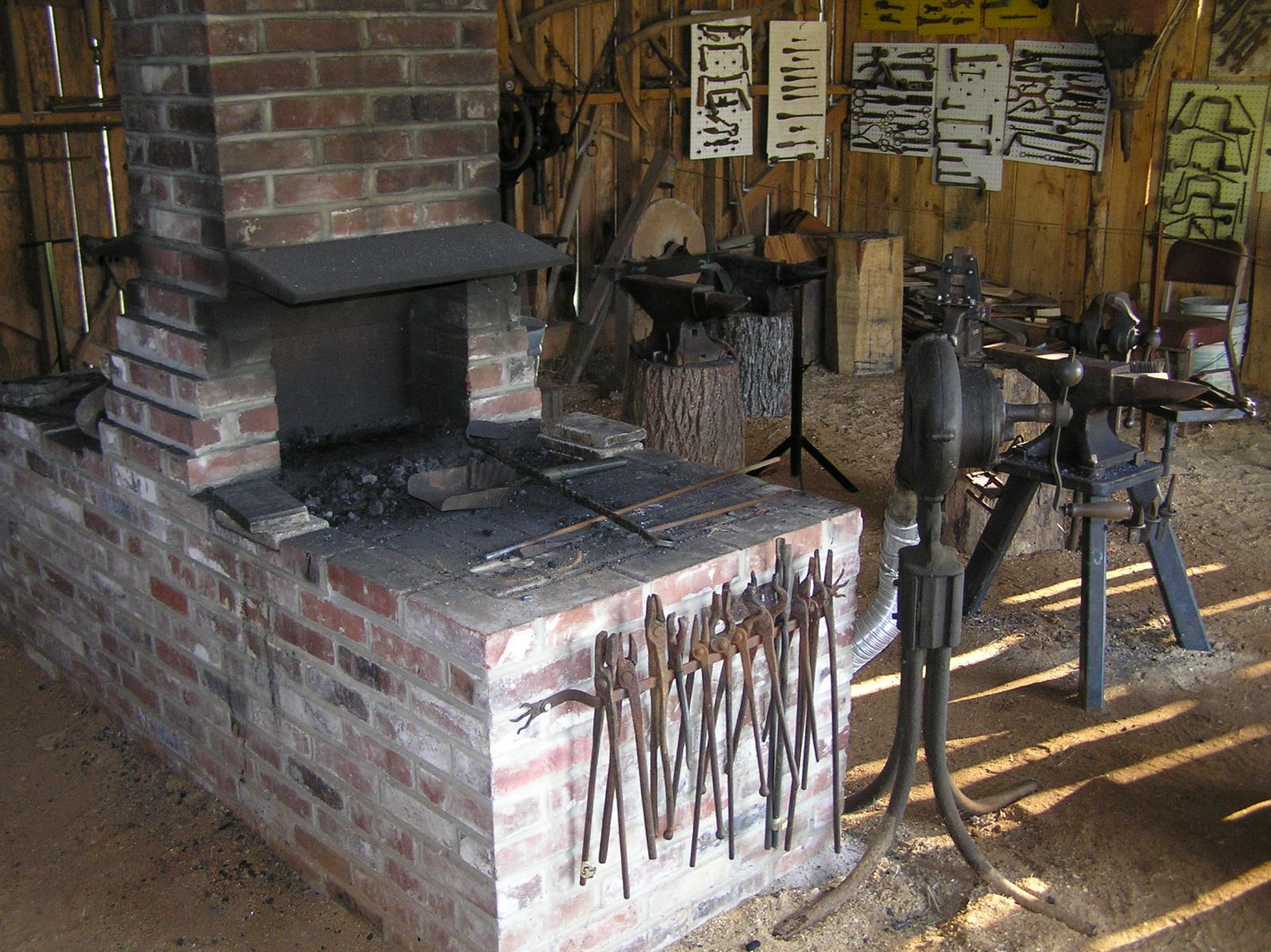 Brick Blacksmith Forge : Welcome to our community forge at the tom kennon