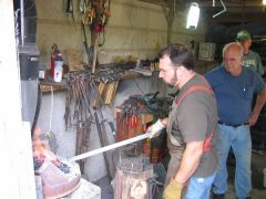B. Norris  Forging a blade at Oakwood's Hammer -in