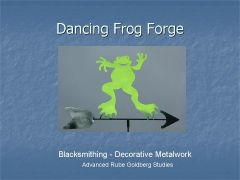 Dancing Frog Forge Weathervane