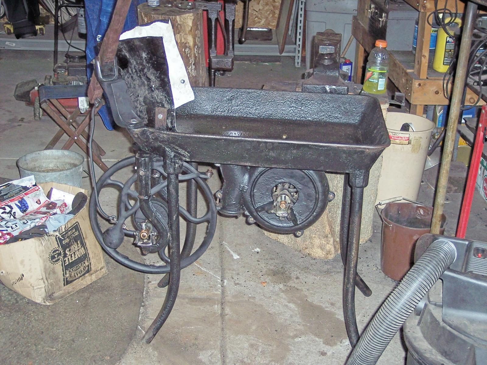 My coal forge when I was fixing it