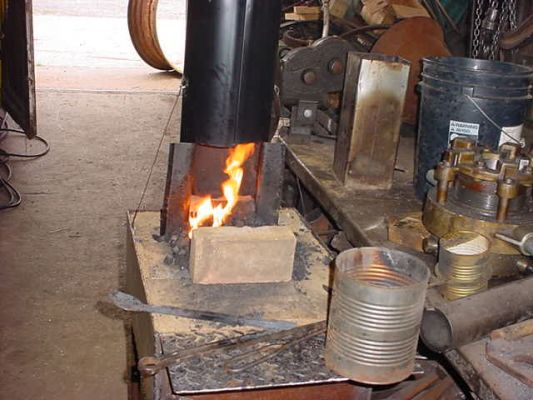 side blown forge