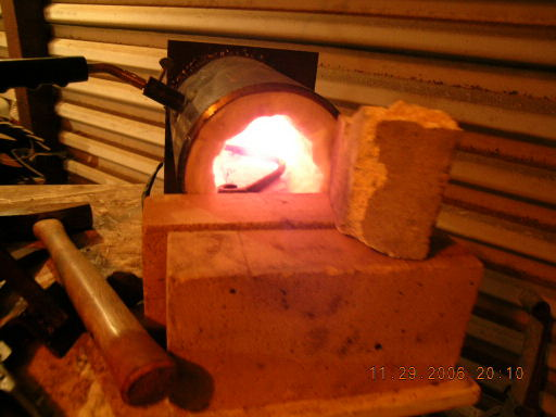 Little pipe forge..