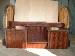 Wood Barrel Settee
