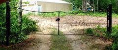 Spider Web Gate Installed Rear View