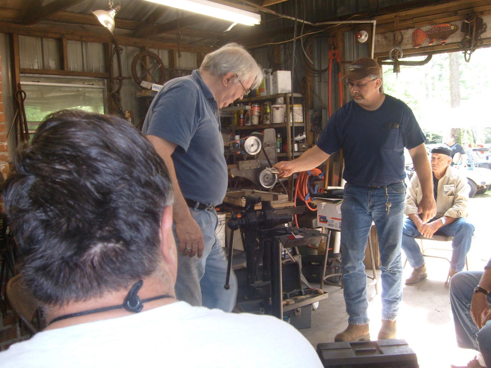Dr. Jim Batson  at the Gulf Coast Blacksmiths  conference . April 25th and