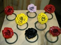 Roses as paperweights