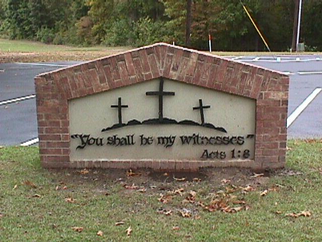 Church sign back