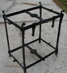 Clock frame, peening the corners