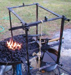 Clock frame in fire