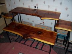 Cedar top tables