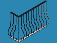 3 D cad drawing of the railing