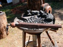 Air venturi for new forge sitting on old forge