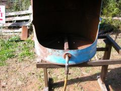 Barrel with air venturi in place
