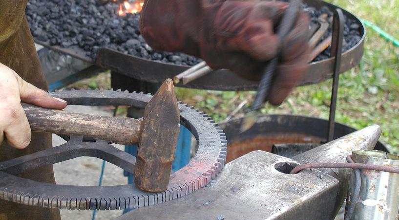 Cutting gear teeth.