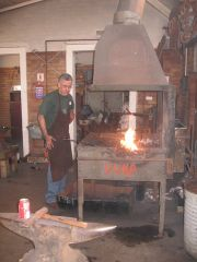 Abie at the forge