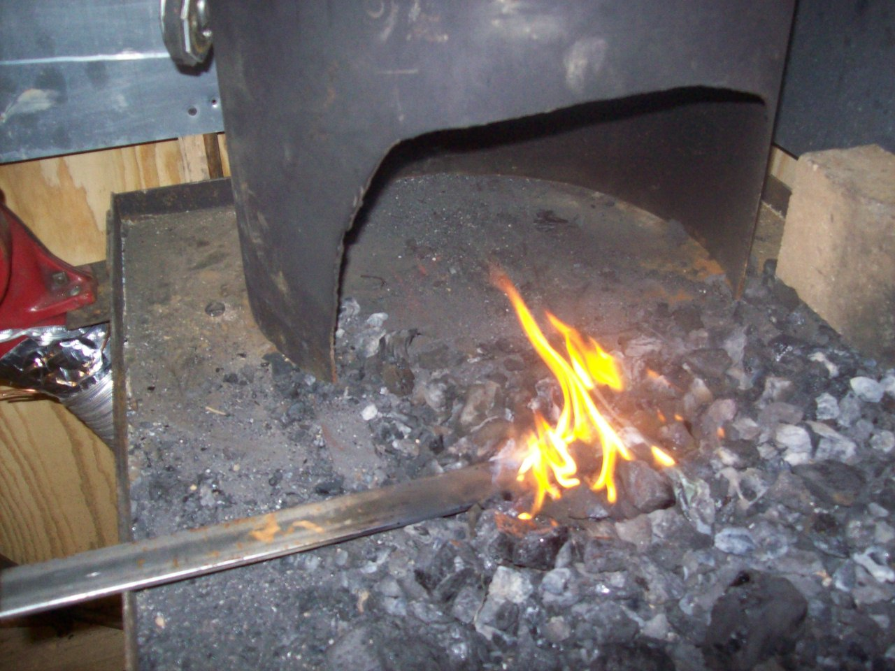 My forge fired