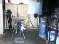 The forging station.