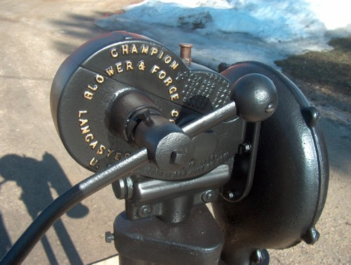 champion forge blower. champion blower and forge co. model 400 a