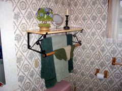 Large Bathroom Shelf/Towel Rack