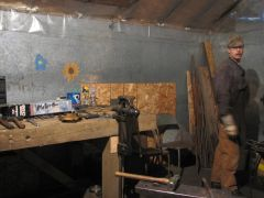 My workbench and vise.