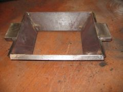 Fire Pot Component - End Supports Tack Welded